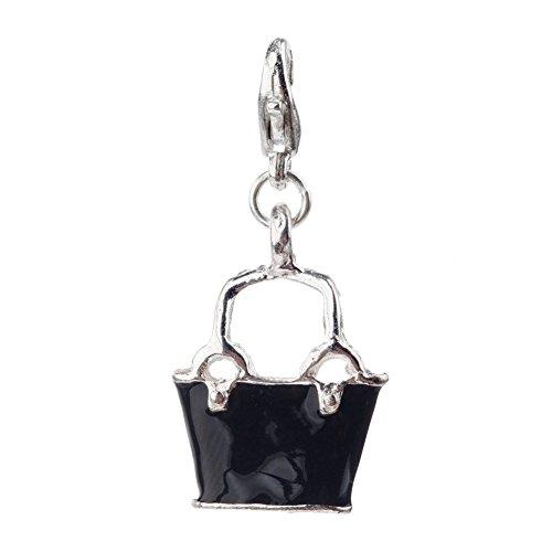 Llamativo colour Negro Coloures de mano con pinza clip On encanto de los form para abalorios pulseras de VAGA©