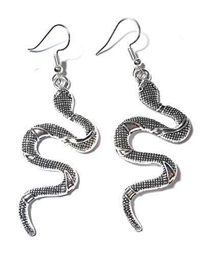 Regalos FizzyButton Pendientes de la Gota de la Serpiente con la Plata Plateada alambres del oído en Caja de Regalo de Color Turquesa