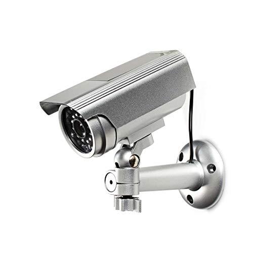 TronicXL Premium Dummy Cam 70 Profi Kamera Attrappe mit Solar Panel + Blinkender LED Tolle Überwachungskamera IP44 Aussenbereich Kameraatrappe Innen Außen Fake Haus Büro Lager Sicherheit Security