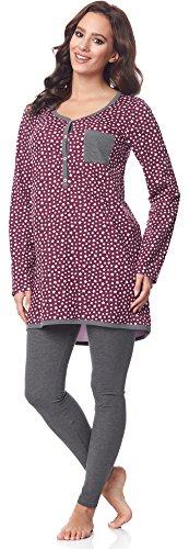 Be Mammy Pijama Premamá Camiseta y Leggins Embarazo Lactancia BE20-178