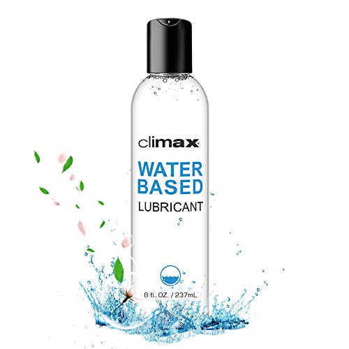 CLIMAX Water Based Lube Personal Natural Lubricant for Women Men Couples Smooth and Slippery Long Lasting (8 fl.oz)