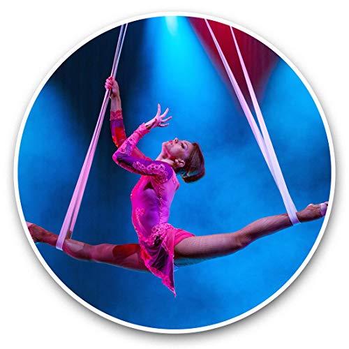 Impresionantes pegatinas de vinilo (juego de 2) 30 cm – variedad de acróbatas circo acrobacias divertidas calcomanías para portátiles, tabletas, equipaje, reserva de chatarras, neveras, regalo fresco #44619