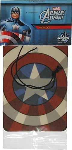 Plasticolor Désodorisant pour voiture Captain America Avengers Vanille Marvel Comics