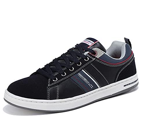 ARRIGO BELLO Zapatillas Hombre Vestir Casual Zapatos Deportivas Sneaker Transpirables Cómodo Running Caminar Correr Trainer Tamaño 41-46 (A Azul, Numeric_45)