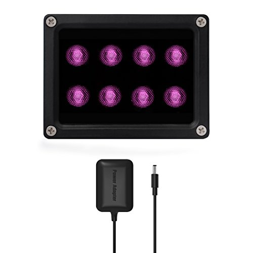 Tendelux 120ft IR Illuminator | BI8 Compact and Powerful 90° Infrared Light for CCTV Security Camera (w/Power Adapter)
