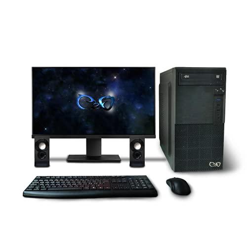 CeO-Tech Delta V1 Ordenador de sobremesa Completo - CPU Intel J4005 2.70GHz 4MB Cache | RAM 8GB DDR4 | HDD 1000GB | Intel UHD 610 | DVD/CD | WI-FI | Monitor HD 4K | Win 10 Pro