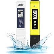 pH Messgerät, Digital pH TDS EC Temperatur 4 in 1 Set, PH Wert Messgerät mit hoher Genauigkeit und LCD Display, Wasserqualität Tester(ATC) für Trinkwasser/Schwimmbad/Aquarium/Pools
