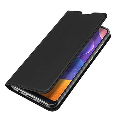 COPHONE Handyhülle für Samsung Galaxy A31. Hülle Leder Handytasche für Galaxy A31 Klapphülle Tasche Schwarz Brieftaschenetui mit Magnetverschluss für Galaxy A31