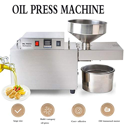 Cyg Oil Press Machine, Fully Automatic Intelligence Oil Expeller Stainless Steel Expeller Press Machine Commercial/home for Nut Seeds/Rapeseed Press Oil Extractor