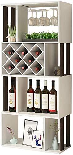 Estantería de vino Estante de vino para almacenar vino, estante de vino Rack de copa de vino / gabinete de vino Estante de vino / Piso Gabinete de exhibición de sala de estar / gabinete de partición p