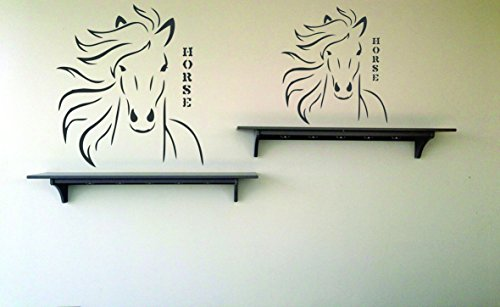 Horse Head Stencil - 4.5 x 5 inch (S) - Reusable Animal Farm Wall Kids Chinese Year of the Horse Stencils for Painting - Use on Paper Projects Walls Floors Fabric Furniture Glass Wood etc.