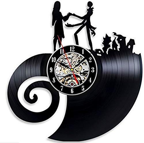 Knncch Horloge Murale en Vinyle Evolution Evolution Nightmare Before Christmas