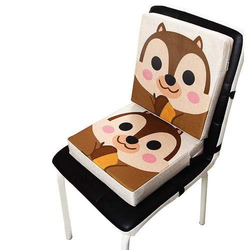 Wateralone Boostersitz Esszimmer Stuhl Sitzerhöhung Kinder Kindersitze, niedlichen Animal Print Flachs, demontierbar einstellbar, ideal als Hochstuhl für unterwegs für Babys,(Affe)