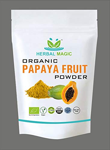 Certified Organic 200g -1kg Papaya Fruit Powder Vitamin C Enriched | Organically Grown Supports Immunity, Digestion & Skincare Natural Sun Dried Not Spray Dried (200g)