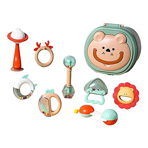 BTSEURY Juguetes para bebés Baby Teether Treast Toys Tizaje de la Mano Regalos para recién Nacidos