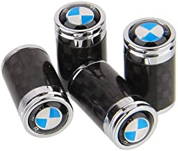 Carbon Fiber Car Tire Air Valve Caps Stem Cover For BMW Emblem Decoration (B)