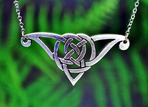 Celtic Knot Necklace | Irish Scottish Celtic Jewelry Handcrafted Fine Pewter