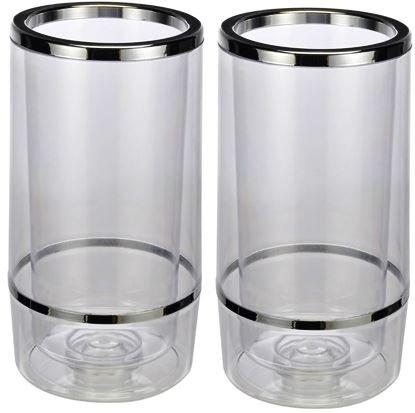 Bambelaa! Weinkühler Sektkühler Flaschenkühler doppelwandig … (Plastik, 2 Stück)