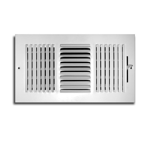 Truaire C103M 14X06(Duct Opening Measurements) 3-Way Supply 14 6-Inch Sidewall or Ceiling Register Grille, Inch x 6-Inch, White-Powder Coated