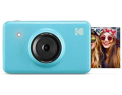 Zink Kodak Mini Shot Wireless Instant Digital Camera & Social Media Portable Photo Printer, LCD Display, Premium Quality Full Color Prints, Compatible w/iOS & Android (Blue) by Kodak
