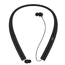professional Bluetooth headphones, wireless ThreeMay headset with retractable neckband Sport…