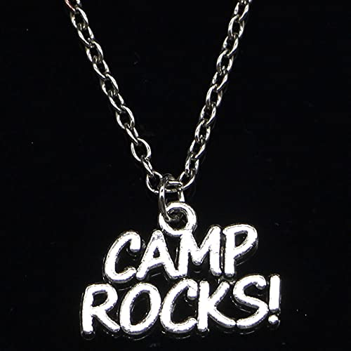 ZOJK Collar 13X21Mm Camp Rock Colgante Corto Largo Mujeres Hombres Colar Regalo Joyas Gargantilla