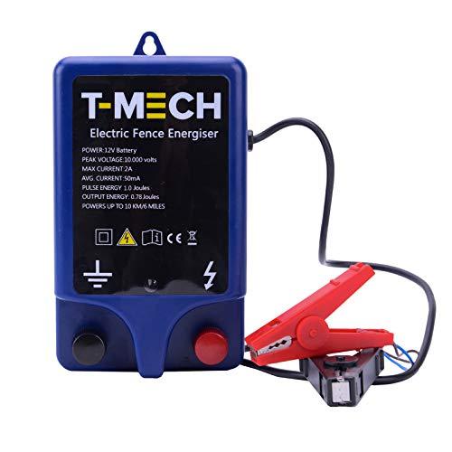 T-Mech Pastor Electrico Batería 12v Cercas Eléctrica Pastor Alimentador de Cercas Eléctricas...