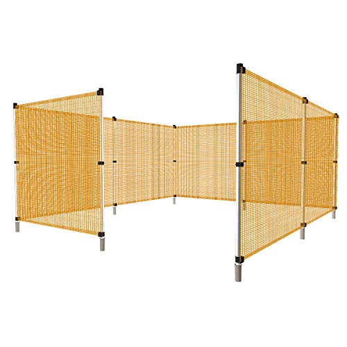 Windscreen4less Fence with Poles Safety Netting Fencing for Backyard Garden Poultry Rabbits Deer Dog Baseball Field Fence 4'H x 24'L Orange