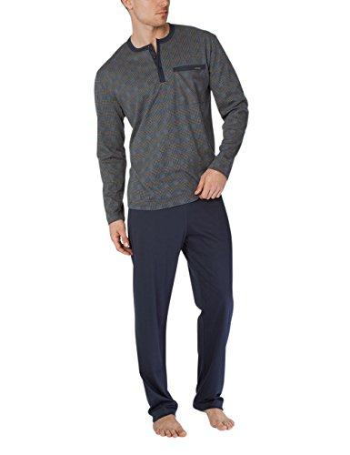 Calida Herren George Pyjama Zweiteiliger Schlafanzug, Mehrfarbig (Bronce 907), Medium