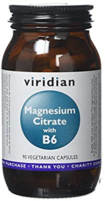 Magnesium Citrate with B6: 90 Veg Caps by Viridian Nutrition
