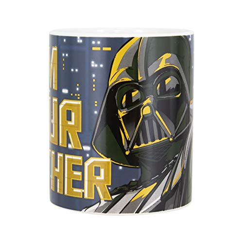 Paladone PP5059SW Star Wars I AM Your Father Becher | Neuheit Darth Vader Kaffee Tee Keramik Tasse | Einzigartige & super lustige Art Ihr Lieblingsgetränk zu trinken