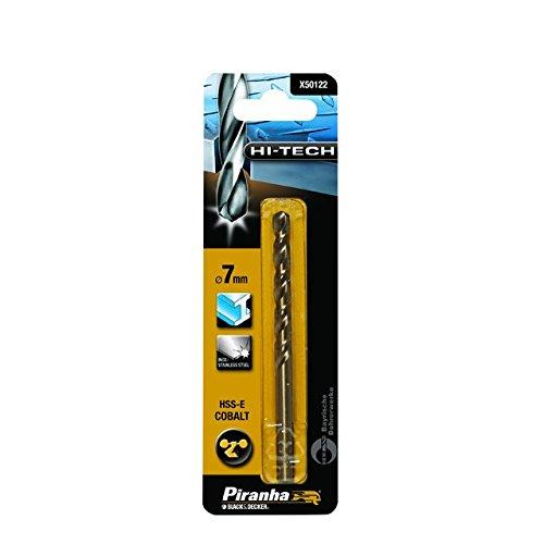 Piranha HSS-E Kobalt Hi-Tech Metallbohrer (für alle Metallarten, 6.5mm Bohrdurchmesser, 101mm Gesamtlänge, 1 Stück) X50117