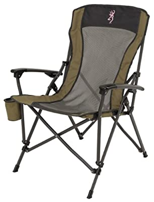 Browning Camping Fireside Chair, Pink Logo