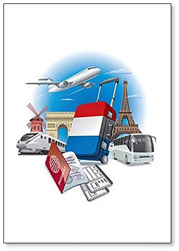Kühlschrankmagnet Tour in France abstrakte Illustration