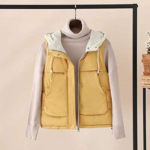 Herfst Mode Verdikking Bovenkleding Hooded Patronen Casual Katoen Vrouwen Vest Warm Jas Motorfiets Vest Mouwloos Parkas Vest