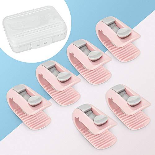 N/ A XAVSWRDE 6 Stücke Bettdeckenbezug-Clips Kunststoff Bettdeckenhalter Rosa Bettbezug Halter Clips Anti-Rutsch-Klemme ohne Nadel Bettdeckenhalterung für babybett Steppbett Steppbettdecke