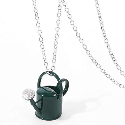 Precioso lindo regadera colgante gargantilla collares para mujeres hombres niños collares joyería regalos-green_color