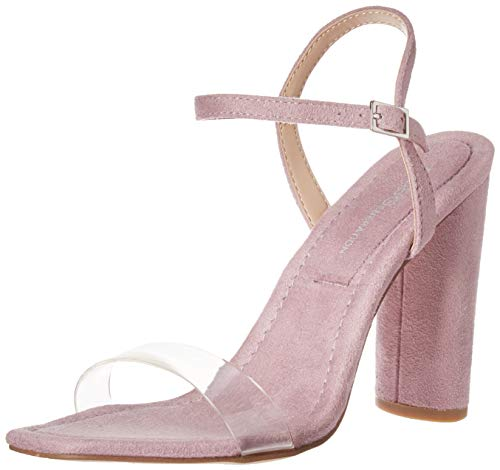 BCBG Generation Women's Ilsie Dress Sandal Pump, Lilac/Clear, 5 M US