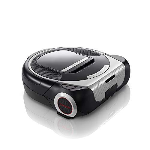 Bosch BCR1ACG Roxxter Serie 6 Saugroboter (Laser Navigationssystem, APP-Steuerung mit Home Connect/Amazon Alexa, interaktive Raumauswahl, virtuelle No-Go-Zones, virtueller Putzplan) silber/schwarz