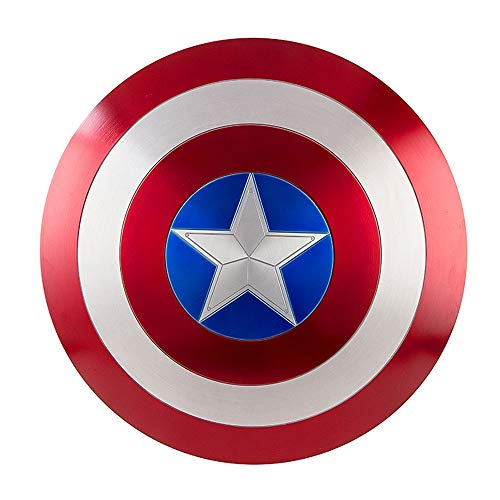 EP-Toy Scudo Capitan America, Made in Metal Scale 1/1, Modello Marvel Infinity War, Fatto in Metallo Scala 1/1, per Bambini e Fan Cospiay (60Cm),Painted