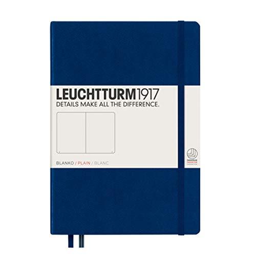 LEUCHTTURM1917 (342922) Carnet Medium (A5) couverture rigide, 249 pages numérotées, ligné, bleu marine
