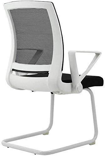 Elegante silla oficina, silla giratoria Asiento de malla de forma de arco | Silla de oficina de soporte trasero de armas | Estructura de soporte de nylon metálico de altura | Para oficina en casa