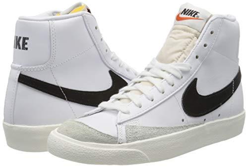 Nike Blazer Mid '77 VNTG, Zapatillas de básquetbol Hombre, Blanco White Black 000, 36.5 EU