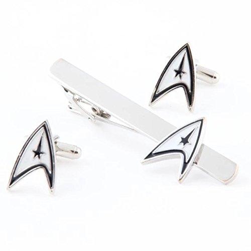 Star Trek Logo Barre de cravate pince à cravate boutons de manchette Boutons de manchette pour homme costume cosplay Accessoires