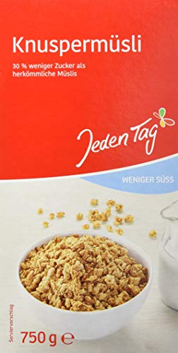 Jeden Tag Knuspermüsli weniger Zucker 750g