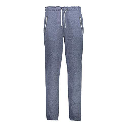 CMP Pantalon de Jogging Pantalon Un Long Pantalon Blau Élastique Moucheté Stretch Double Jersey - M862 B. Bleu Mel, 50