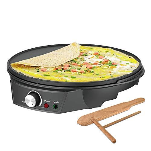 Crepera Eléctrico, Crepe Maker Placa Calefactora Antiadherente, Con Temperatura Ajustable, Accesorios Incluidos, Para Cocinar En Casa DIY
