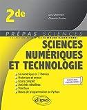 Sciences numériques et technologie - Seconde - nouveaux programmes