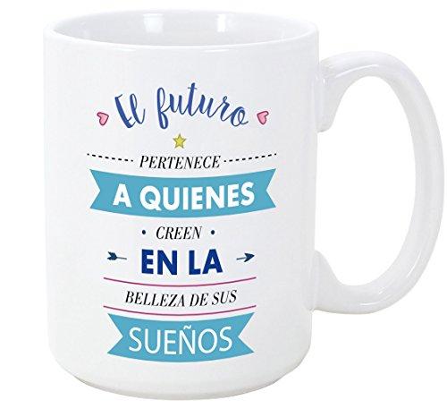 MUGFFINS Tazas Desayuno Originales con Frases motivadoras - El Futuro Pertenece a...