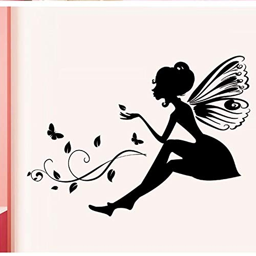Wopiaol Meisjes & bloem afneembare muurkunst sticker vinyl sticker kamer huis wanddecoratie voor kinderkamer baby kinderen slaapkamer Home Decoration